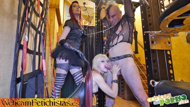 Trio bdsm Nora-barcelona,Rat-Penat,esclavo Minerva